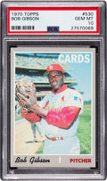 Baseball Cards:Singles (1970-Now), 1970 Topps Bob Gibson #530 PSA Gem Mint 10 - Pop Two....