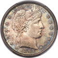 Barber Quarters, 1895-S 25C MS66 PCGS. DL-101, Repunched Mintmark....