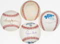 Autographs:Baseballs, Baseball Greats Single & Multi-Signed Baseball Quartet (4). ...