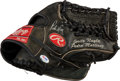 Baseball Collectibles:Others, 2007-09 Pedro Martinez Game Used Signed Fielder's Glove. ...