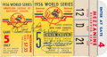 Baseball Collectibles:Tickets, 1956 Don Larsen and Yogi Berra Signed World Series Game 5 PerfectGame Ticket Stub. ...