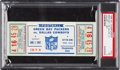 Football Collectibles:Tickets, 1966 NFL Championship Game Packers vs. Cowboys Full Ticket, PSA VG 3 - One of Only Six Graded!...