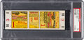 Baseball Collectibles:Tickets, 1929 World Series Game 1 Full Ticket, PSA EX 5 - Highest GradedExample!...