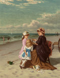 Fine Art - Painting, American, Samuel S. Carr (American, 1837-1908). By the Seaside, 1881. Oil on canvas. 15 x 12 inches (38.1 x 30.5 cm). Signed and d...