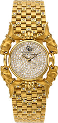 Estate Jewelry:Watches, Carrera y Carrera Lady's Diamond, Gold Watch. ...