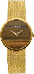 Estate Jewelry:Watches, Vacheron Constantin Gentleman's Tiger's-Eye Quartz, Gold Integral Bracelet Watch. ...