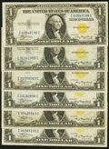 Small Size:World War II Emergency Notes, Fr. 2306 $1 1935A North Africa Silver Certificates. Six Examples. Very Fine or Better.. ... (Total: 6 notes)