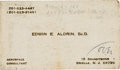 Explorers:Space Exploration, Edwin E. Aldrin, Sr. Business Card from the Collection ofSmilin' Jack Creator Zack Mosley....