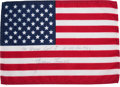 Explorers:Space Exploration, Apollo 8 Flown American Flag Directly from the Personal Collection of Mission Command Module Pilot James Lovell, Signed and Ce...