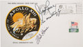 """Explorers:Space Exploration, Apollo 13 Crew-Signed """"Type One"""" Insurance Cover Directly from the Personal Collection of Mission Commander James Lovell, Sign..."""