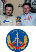 Explorers:Space Exploration, Russian Expedition 8 / ISS Flown Patch with Crew-Signed ProvenancePhoto. ...