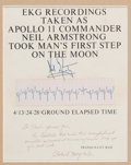 "Explorers:Space Exploration, Apollo 11: Neil Armstrong EKG Strip Recorded as He Made thatLegendary ""Giant Leap for Mankind"" onto the Lunar Surface, inFra..."