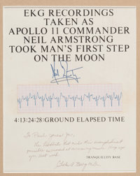 """Apollo 11: Neil Armstrong EKG Strip Recorded as He Made that Legendary """"Giant Leap for Mankind"""" onto the Lunar..."""