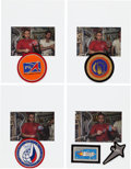Explorers:Space Exploration, Russian Soyuz TMA-1 / ISS / TM-34 Flown Patches (Five) from Flight Commander Sergei Zalyotin with Photographic Provenance. ...