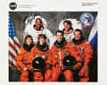 Autographs:Celebrities, Space Shuttle Discovery (STS-63) Crew-Signed Color Photo....