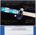 Autographs:Celebrities, Mir Space Station Early Color Photo Signed by Five Cosmonauts. ...