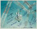Autographs:Celebrities, NASA Original Color Photo of the Lunar Landing Research Facility atLangley Signed by Thirteen Astronauts Including Six Moonwa...