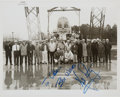 Autographs:Celebrities, Neil Armstrong Signed Original NASA Photo of Him with the Langley Lunar Landing Research Facility Crew. ...