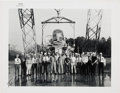 Autographs:Celebrities, Clifton Williams and Frank Borman Signed Original NASA Photo ofThem with the Langley Lunar Landing Research Facility Crew. ...