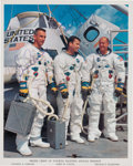 Autographs:Celebrities, Apollo 10: White Spacesuit Crew Color Photo Signed by Gene Cernanand John Young. ...