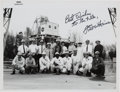 Autographs:Celebrities, Fred Haise Signed Original NASA Photo of Him with the Langley LunarLanding Research Facility Crew. ...