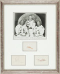 Autographs:Celebrities, Apollo 11: Separate Crew Signatures with NASA Photo, in FramedDisplay. ...