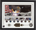 "Autographs:Celebrities, Gene Cernan Signed Limited Edition, #AP35/200, ""Golden Age ofSpace"" Framed Display with Apollo 17 Medal containing Flown Meta..."