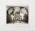 """Explorers:Space Exploration, Apollo 12 Limited Edition (#3) Signed Etching """"Das Tor Ist Offen""""(The Gate is Open) by German Artist Hermann Fritz, Directly ..."""