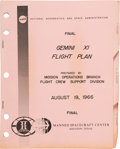 Explorers:Space Exploration, Gemini 11 Final Flight Plan Book Directly from the FamilyCollection of Mission Pilot Richard Gordon. ...