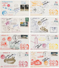 Explorers:Space Exploration, Apollo 15 Crew-Signed Launch, Event, and Return Covers (Eight)Directly from the Family Collection of Mission Back-up Commande...