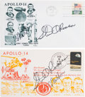 Explorers:Space Exploration, Apollo 14 Launch and Return Covers (Two) Signed by Mitchell andRoosa, Directly from the Family Collection of Astronaut Richar...