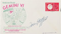 Explorers:Space Exploration, Tom Stafford Signed Gemini 6A Launch Cover Directly from the FamilyCollection of Astronaut Richard Gordon. ...