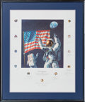 "Explorers:Space Exploration, Alan Bean Signed Limited Edition ""In the Beginning..."" Print, #496/1000, Signed by a Total of Twenty Apollo Astronauts, in Fra..."