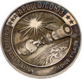 Explorers:Space Exploration, Apollo-Soyuz Test Project Unflown Silver Robbins Medallion, SerialNumber 265, Directly from the Family Collection of Astronau...