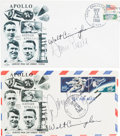 Explorers:Space Exploration, Apollo 7 Launch and Splashdown Covers (Two) Signed by Cunninghamand Eisele, Directly from the Family Collection of Astronaut ...