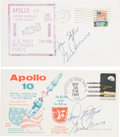 Explorers:Space Exploration, Apollo 10: Launch and Recovery Covers (Two) Signed by Stafford andCernan, Directly from the Family Collection of Astronaut Ri...