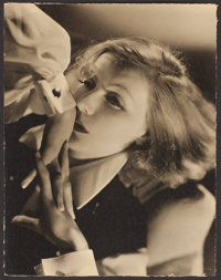 """Greta Garbo in Queen Christina by Clarence Sinclair Bull (MGM, 1933). Borderless Portrait Photo (10.5"""" X 13.5). Dra..."""
