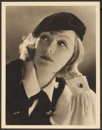 """Greta Garbo in As You Desire Me by Clarence Sinclair (MGM, 1932). Portrait Photo (10"""" X 13""""). Drama"""