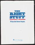 "Movie Posters:Adventure, The Right Stuff (Warner Brothers, 1983). Presskit (9"" X 12"") &Photos (33) (6.5"" X 10""- 9.5"" X 7.25""). Adventure.. ... (Total: 34Items)"