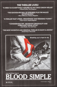 "Blood Simple (Circle Films, 1984). Identical Posters (5) (21"" X 36.75""). Thriller. ... (Total: 5 Items)"