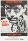 "Movie Posters:Drama, Raging Bull (United Artists, 1980). Spanish One Sheet (27.25"" X39""). Drama.. ..."