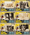 """Movie Posters:Adventure, The Lion Man (United Screen Associates, 1936). Lobby Cards (6) (11""""X 14"""") & Uncut Pressbook (4 Pages, 10.5"""" X 16.25""""). Adve...(Total: 7 Items)"""