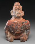 Pre-Columbian:Ceramics, A Colima Seated Hunchback...