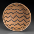 American Indian Art:Pottery, A Jeddito Black-On-Cream Bowl...