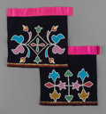 American Indian Art:Beadwork and Quillwork, Two Otoe/Osage Beaded Cloth Aprons... (Total: 2 Items)