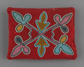 American Indian Art:Beadwork and Quillwork, A Otoe Beaded Cloth Pillow...