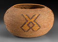 American Indian Art:Baskets, A Mission Polychrome Coiled Jar. ...