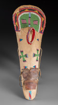 American Indian Art:Beadwork and Quillwork, A Nez Perce Beaded Cloth Model Cradleboard...
