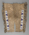 American Indian Art:Beadwork and Quillwork, A Pair of Sioux Boy's Beaded Hide Leggings... (Total: 2 Items)