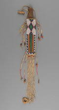 American Indian Art:Beadwork and Quillwork, A Sioux Beaded Buffalo Hide Knife Sheath and Knife... (Total: 2Items)